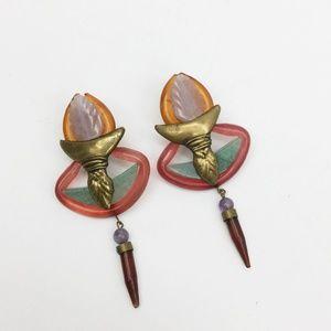 VIntage  Chandelier Dangle Clip-On Earrings